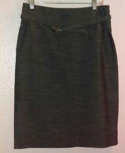 Rafaella gray belted pencil skirt